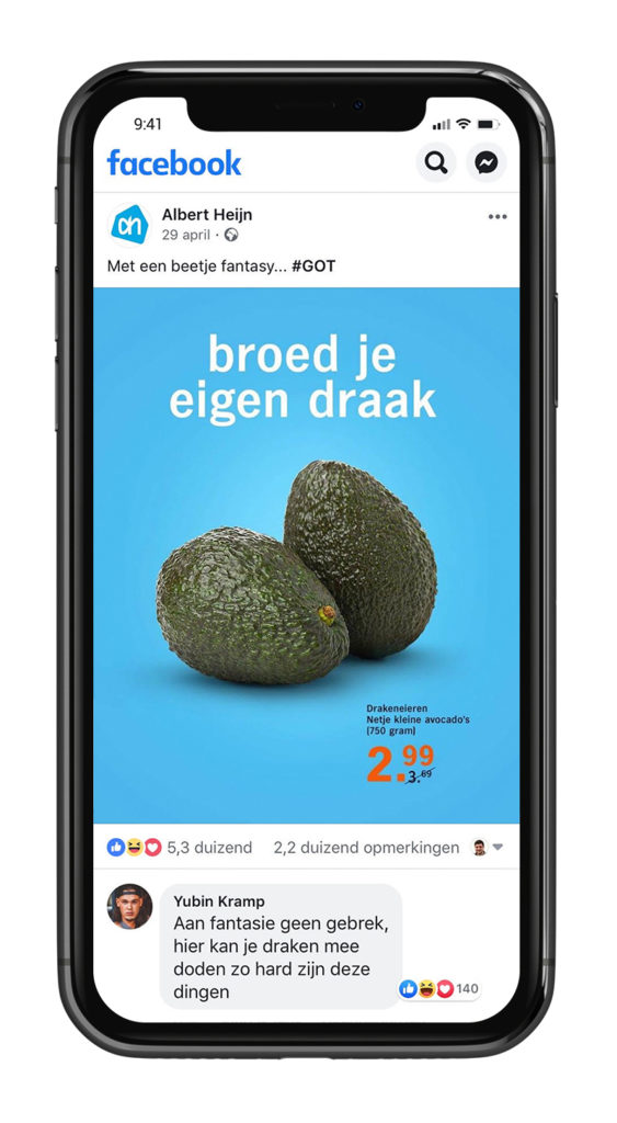 Inhaker GOT Albert Heijn